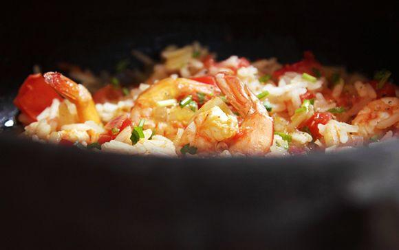 Arroz de camarão. Um luxo de fácil e saboroso.