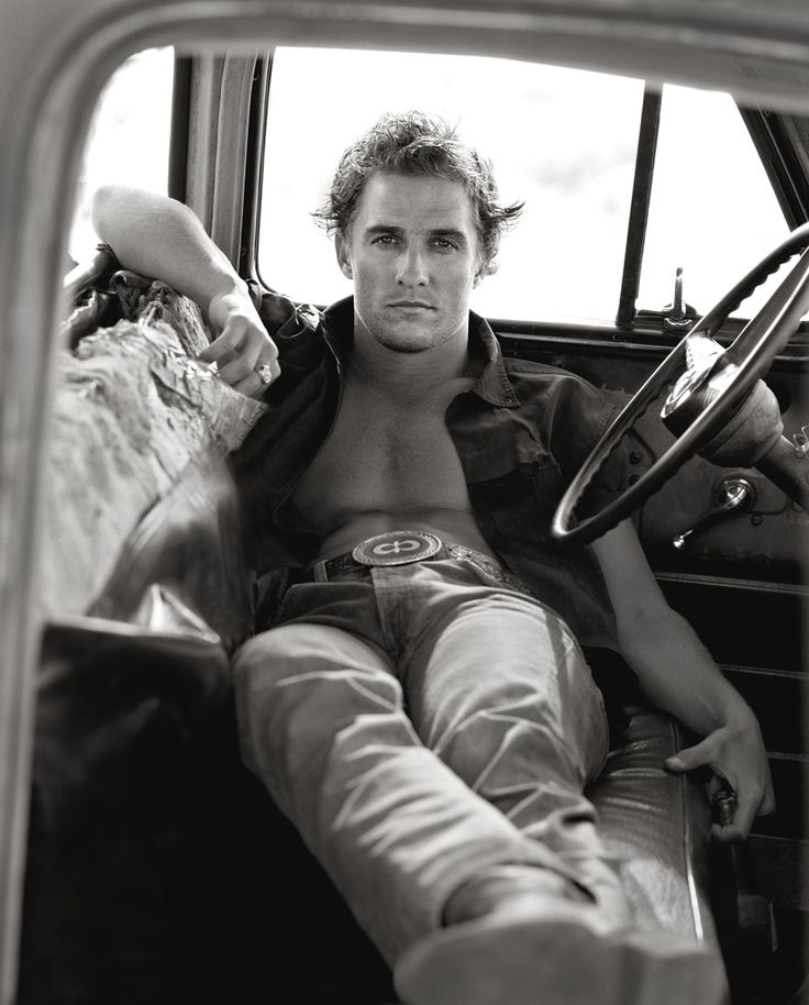 Matthew McConaughey in Palmdale, California by Herb Ritts, 1996.