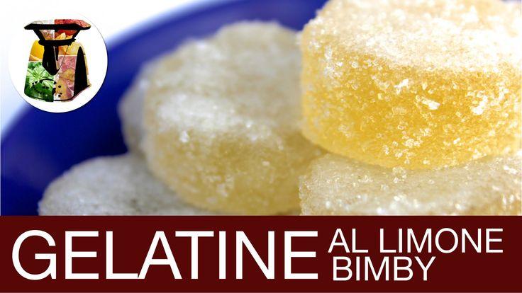 Caramelle Gelatine al Limone Gelee Bimby