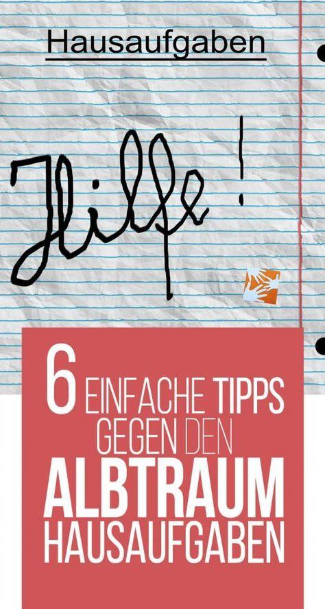 6 einfache Tipps gegen den Albtraum Hausaufgaben