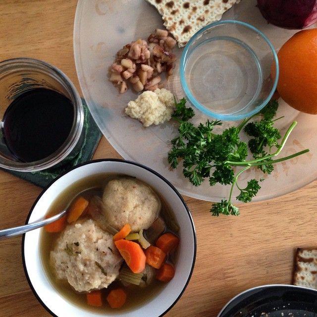 The highlight of #veganPassover: matzah ball soup
