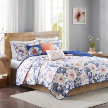 Madison Park Aria 6-piece Quilted Coverlet Set