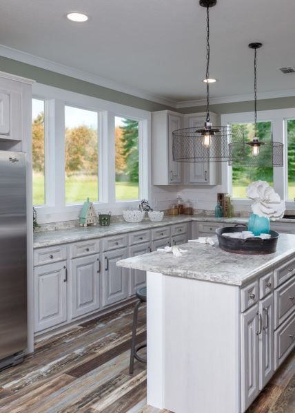 Country Kitchen goals! IMP 9300 model |2531 sq.ft.|3BR|2BA|$198,000| #dreamkitchen #kitchen #mobilehome #kitchengoals