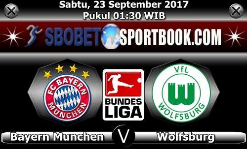 SBOBETSPORTBOOK.COM - Artikel ini akan membahas statistik pertandingan Bundesliga Jerman pekan ke 6 yang mempertemukan Bayern Munchen melawan Waolfsburg di Allianz Arena (Munchen), dimana pertandingan seru ini akan berlangsung pada hari Sabtu (23/09/17) pukul 01:30 WIB dini hari.