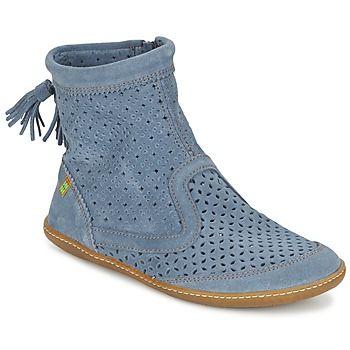 V novej kolekcii značky El Naturalista sa blysol tento model polokozačiek El Viajero Boot. Dvojica kožený zvršok a modrá farba je zárukou úspešne rozohratej partie. Jednou z mnohých výhod je napríklad vonkajšia podrážka z gumy. Dokonale zapadnú do vášho štýlového botníka! - Farba : Modrá - Topánky Damy 95,20 eur