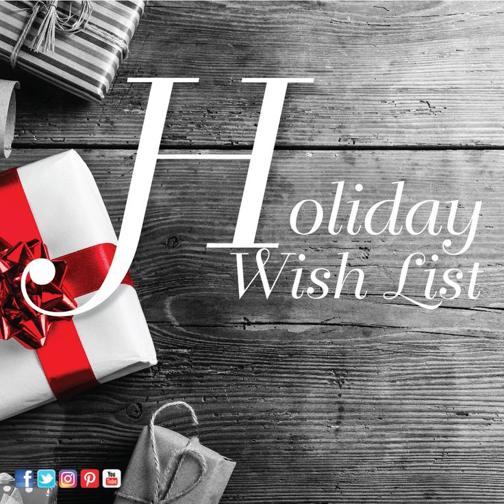 """Create your own Holiday Wish List board to enter to win a $200 Huntington Mall gift card! From now until November 17th, create a board of all of the items you would like for the holiday season! Send us your link to your board via Facebook message to enter. A panel of judges will select the Top 3 boards and then the Top 3 board links will be posted to Facebook for the public to vote for one winner! See our """"Holiday Wish List"""" example below! All Warner Management rules and regulations apply."""