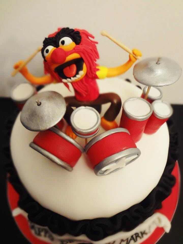 Animal Rocking Out On The Drums Cake Topper Cakeaters