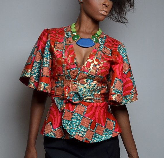 Veste Kimono imprimé africain par AnkaraRebel sur Etsy