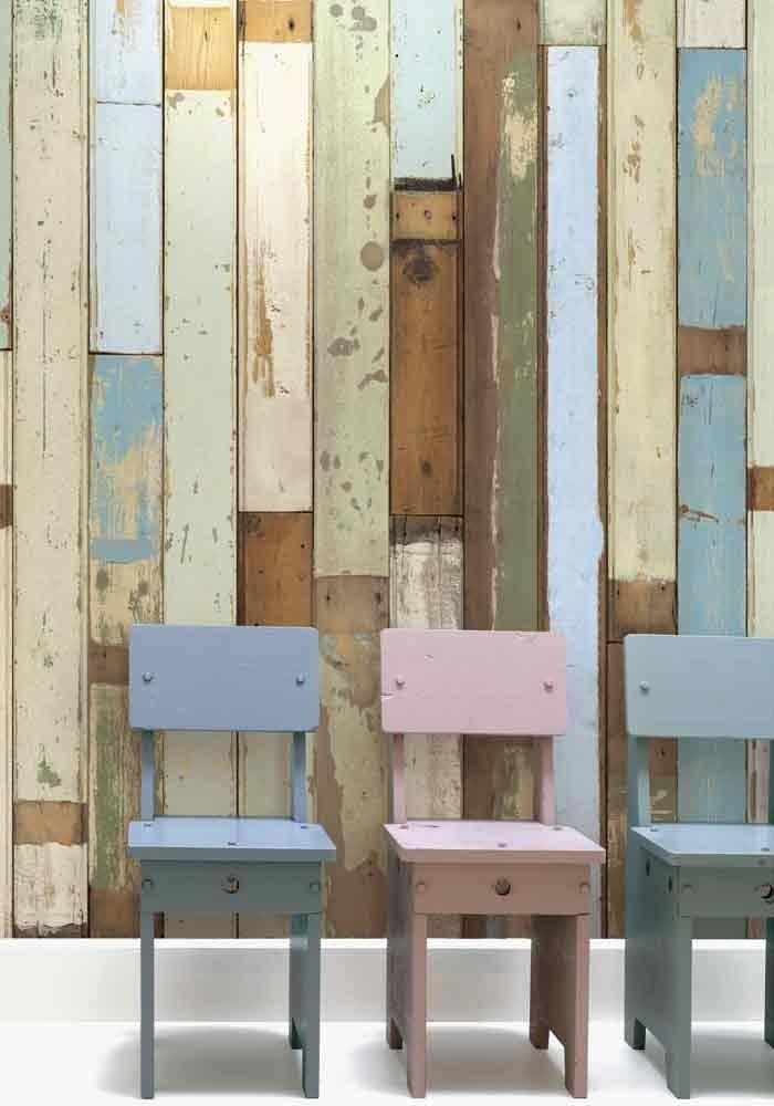 Scrapwood wallpaper PHE-3 by Piet Hein Eek. Available from www.wallpaperantics.com.au