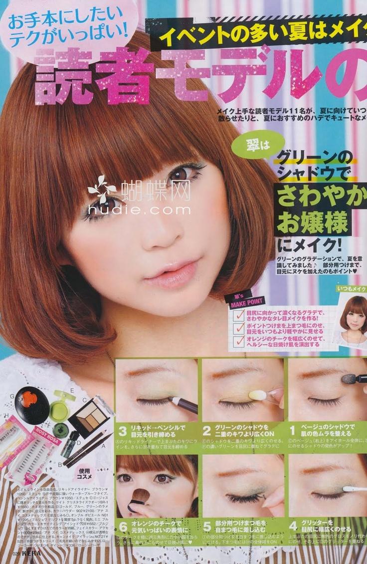 Eye makeup tutorial zipper mag pinterest gyaru asian eyes and