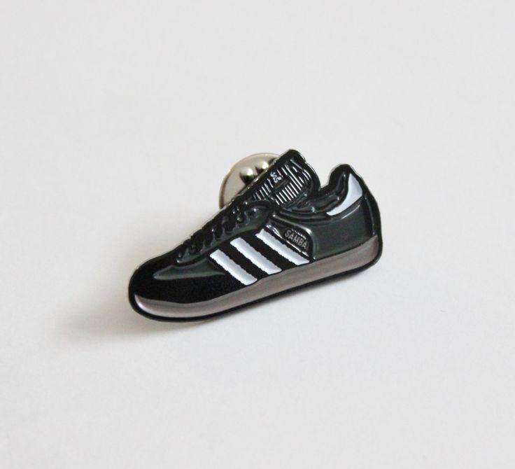 "Adidas Samba Sneaker Lapel Pin - 1.25"" soft enamel by TheSilverSpider on Etsy"