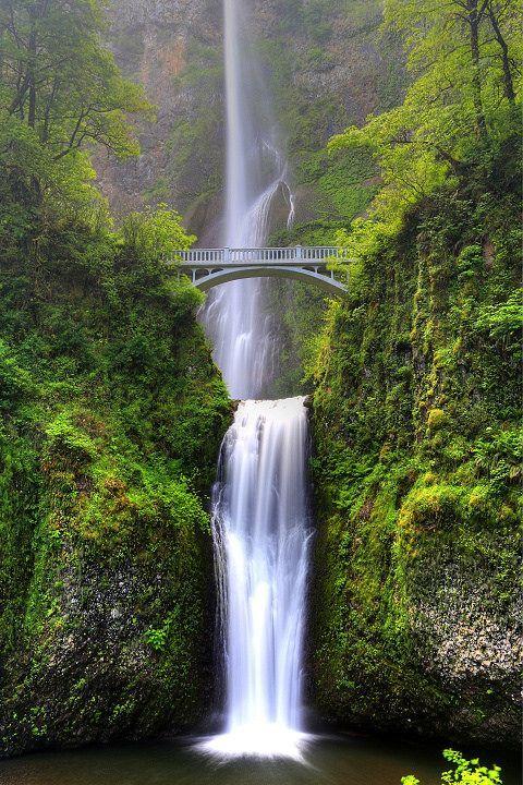 Multnomah Falls, Oregon, United States #getaways