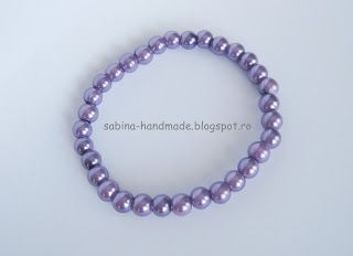 Bracelet made from purple pearls - Bratara facuta din perle mov