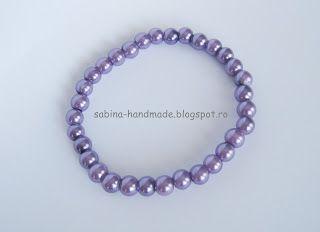 Bracelet made from purple pearls - Bratara facuta din perle mov