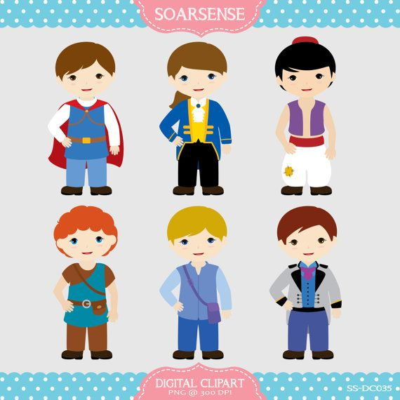 Fairytale Prince Clipart  2 by soarsense on Etsy, $5.00