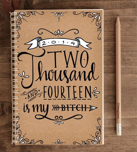 2014 12Month Weekly Planner with Back Pocket  2014 by ninjandninj, $30.00