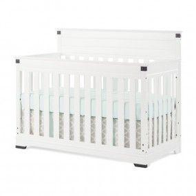 Redmond 4-in-1 Convertible Crib-Matte White | White Crib | Convertible Crib | Nursery Decor | Nursery Furniture