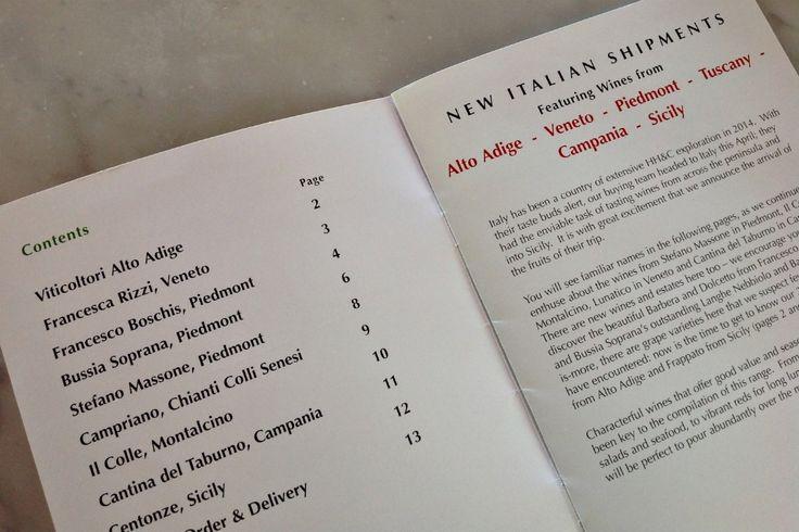 Dal catalogo dell'estate 2014 del distributore Haynes Hanson & Clark. #vino #Prosecco #Veneto
