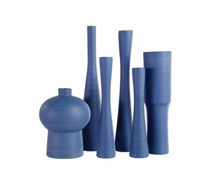 Roche Bobois Collection Of Ceramic Vases Hand Made