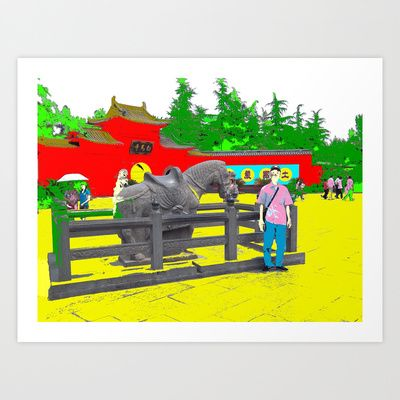 A Horse That Stays Art Print by lookiz - $16.64