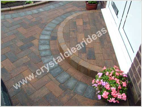 Marshalls Driveline Vintage Block Paving Driveway with a curved step to the front door