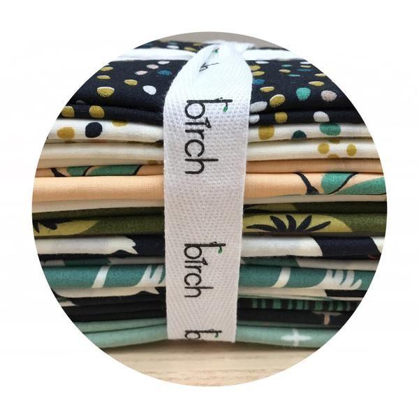 Organic 13 Fat Quarter Bundle - Swan Lake Collection - Birch Organic F – Pins & Needles Fabrics