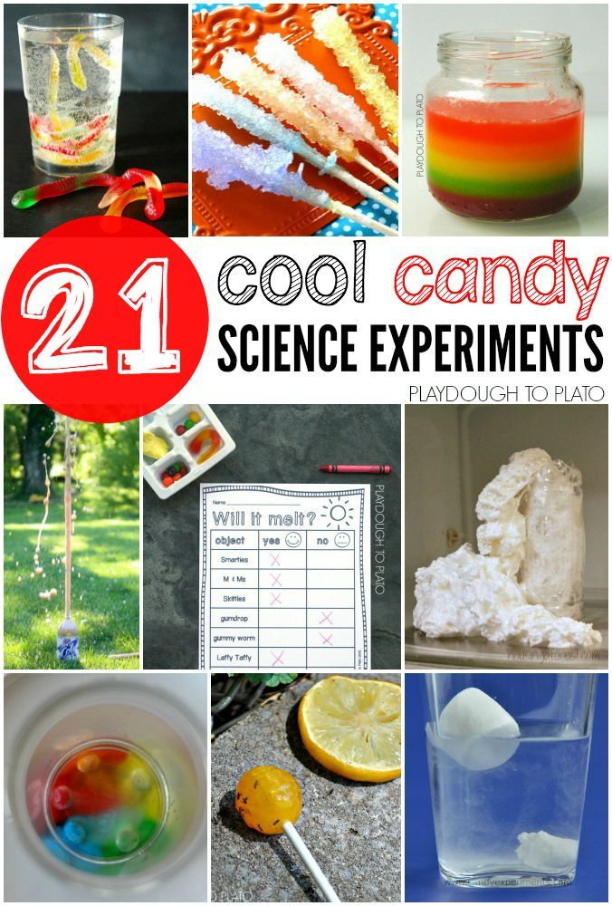 Science fair projects candy chemistry recipes