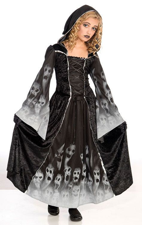 Halloween Costumes For Girls Age 13.Details About Girls Black Vampire Ghost Halloween Gothic