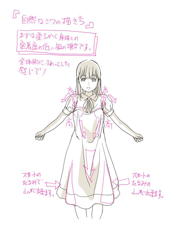 Basic Anime Character Design : Art by toshi website http pixiv
