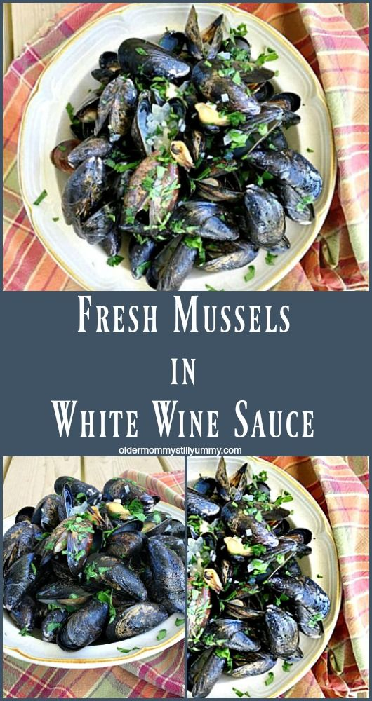 How to Clean & Cook Fresh Mussels with recipe for fresh mussels in wine sauce.