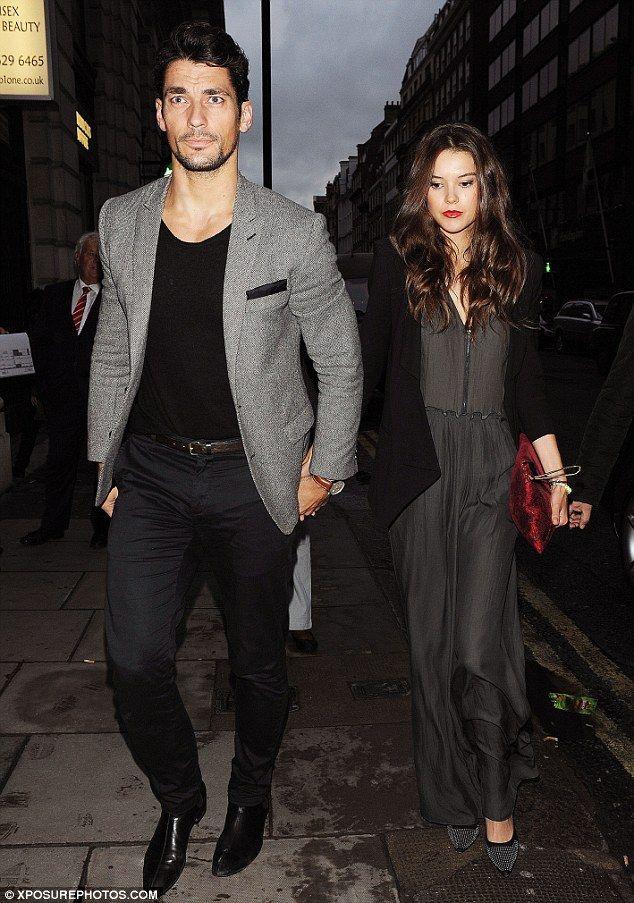 David Gandy with ex-girlfriend Sarah Ann Macklin