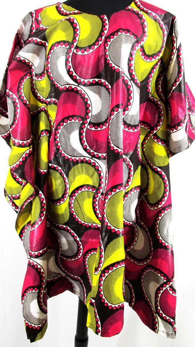Bat Wing African Print Dress - Medium/Large