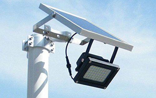 Projecteur solaire, 54LED, lampe de sécurité pour extérieur; pelouse, jardin, paysage, hôtel, piscine, bassin, etc..: S'allume…