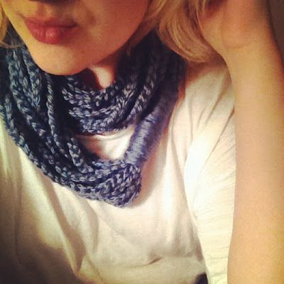 Chain Loop Crochet Scarf