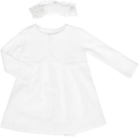 """БЕМБІ Комплект одежды  — 1348р. -------------------------------- Комплект для девочки БЕМБІ - это замечательный подарок, который прекрасно подойдет для вашей малышки. Комплект состоит из платья, болеро и повязки на голову. Изготовленный из натурального хлопка, он необычайно мягкий и приятный на ощупь, не сковывает движения малышки и позволяет коже """"дышать"""", не раздражает даже самую нежную и чувствительную кожу ребенка, обеспечивая ему наибольший комфорт. Платье с круглым вырезом горловины и…"""