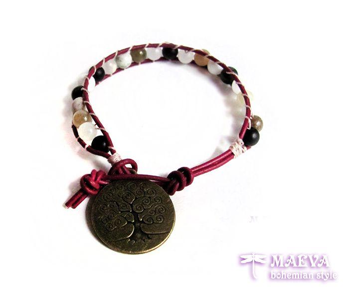 http://maevabohemian.com/Bracelet%20Modern%20Style?product_id=110&limit=100   #bohemian #style #gemstone #bracelet, #zen #jewelry: #tree of life