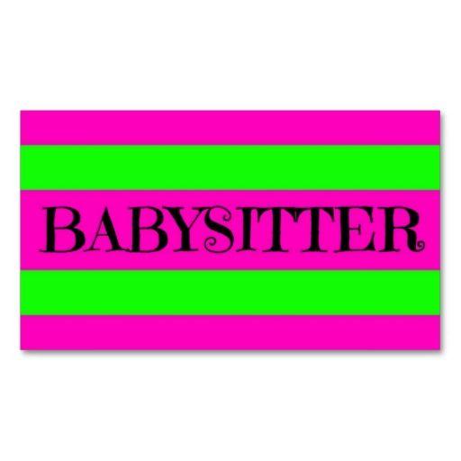 141 best Babysitting Business Cards images on Pinterest
