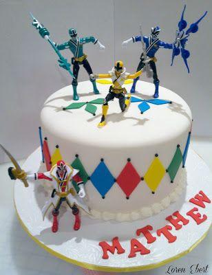 Pink Power Ranger — Childrens Birthday Cakes