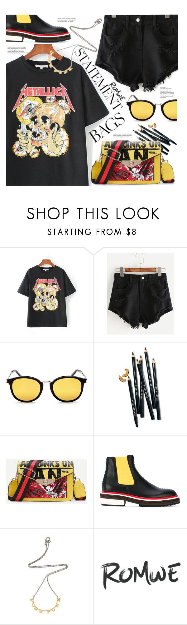 """""""Carry On: Statement Bags"""" by meyli-meyli ❤ liked on Polyvore featuring Yves Saint Laurent, Bobbi Brown Cosmetics, Christopher Kane, Tom Binns and statementbags"""