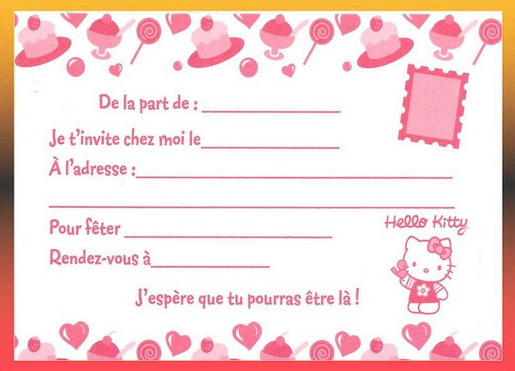 Favorit carte invitation anniversaire à imprimer gratuite fille  HT71