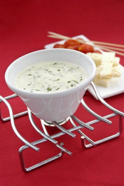 Bothwell Aged Cheddar and Basil Fondue with Grape Tomatoes and Brioche ...