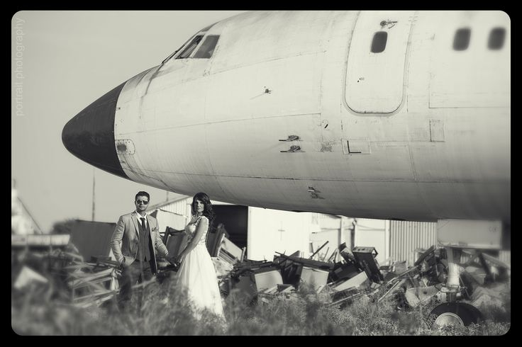 #afterwedding #bride #groom #professionalphotography #aeroplane