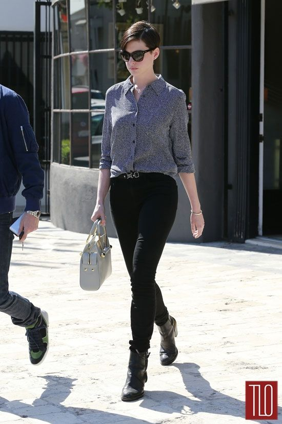 Anne Hathaway Shopping at Off The Wall Antiques in LA | Tom & Lorenzo Fabulous & Opinionated