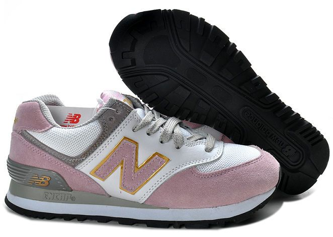 Womens New Balance W574EWP Grey Pink Shoes