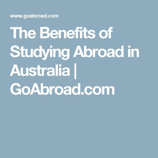 Why Study Abroad in Australia   Apple cider benefits