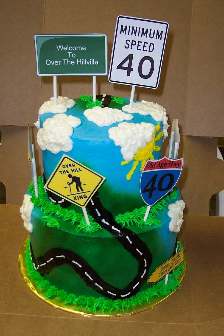 50 best 0ver the hill cakes images on pinterest - Geburtstagsideen 50 ...