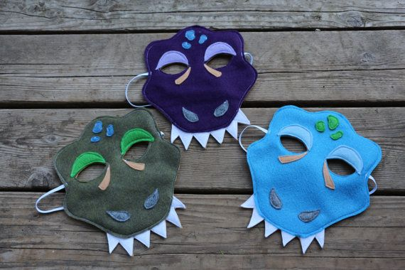Tyrannosaurus Rex Felt Mask for Kids by kathyandflick on Etsy                                                                                                                                                                                 More