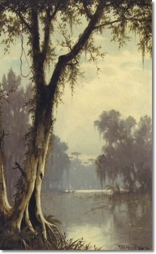 Joseph Rusling Meeker - Louisiana Bayou 1887...Need this for my French Quarter room! :)