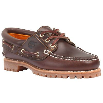 Timberland Women's Noreen 3 Eye Boat Shoes Brown Style TB08211A New size 8.5