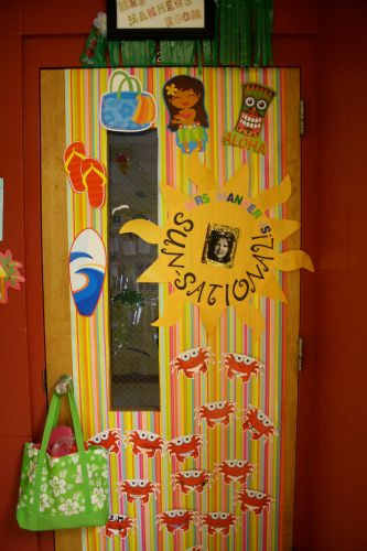 Summer Classroom Decoration ~ Sun teacher door idea g pixels